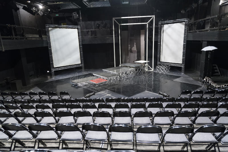 Empty Theater Scene Of School Studio MHAT Editorial Stock Photo