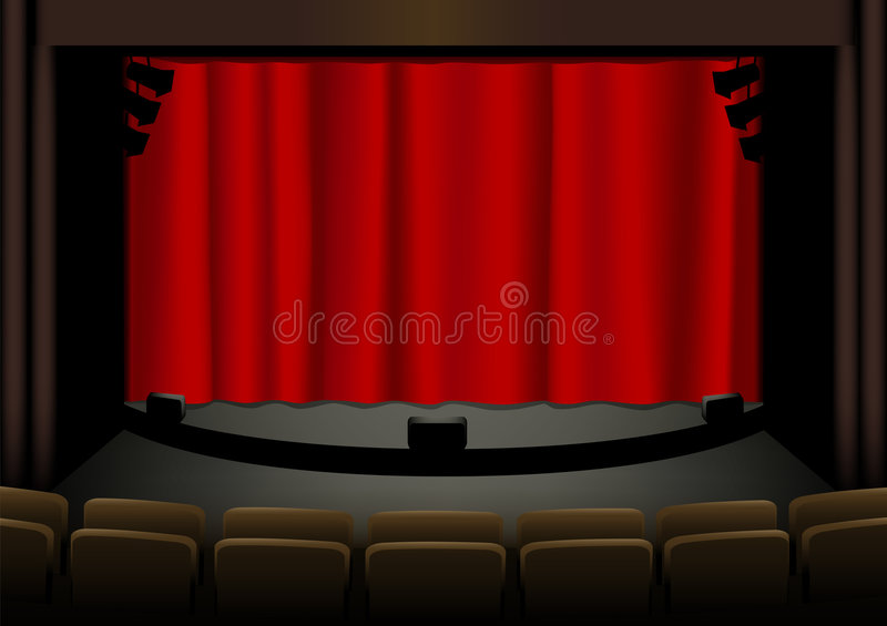Download Empty theatre stock vector. Image of textile, fabric, background - 3767943
