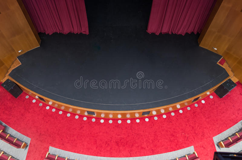 Empty theatre. Theatre scene seen from above stock images