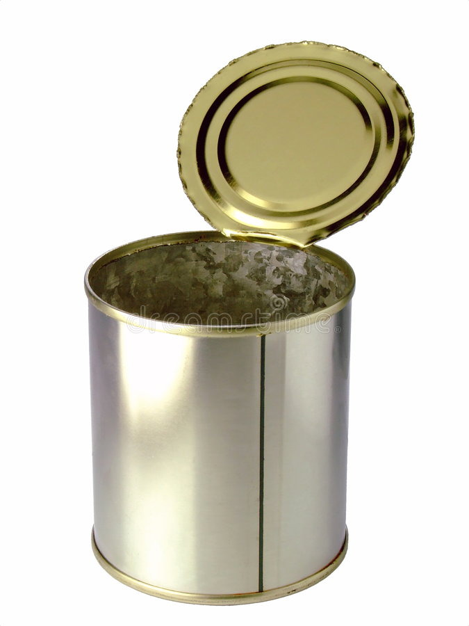 Empty Tin Can Stock Photography