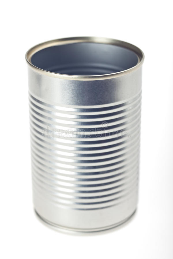 Empty tin can royalty free stock images
