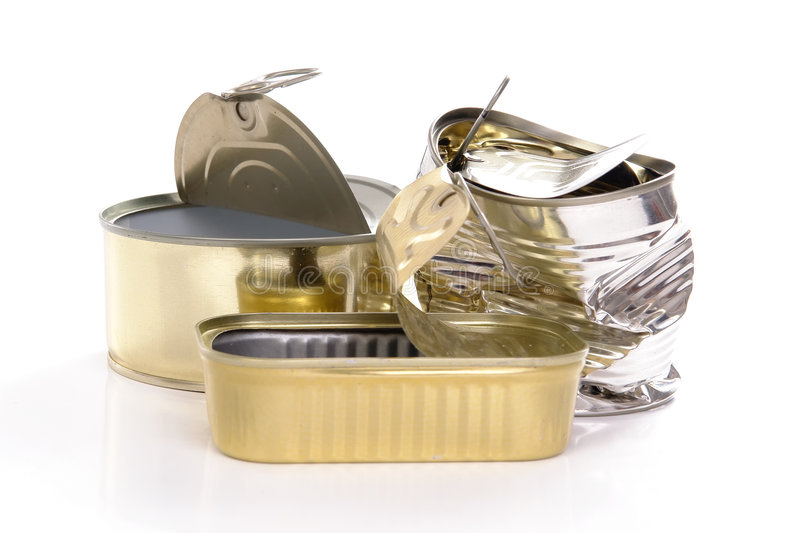 Empty tins royalty free stock images