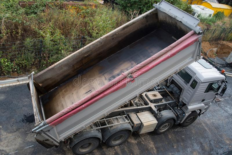 Empty tipper royalty free stock photo