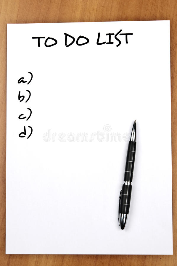 Download Empty to do list stock image. Image of notes, reminder - 20109845