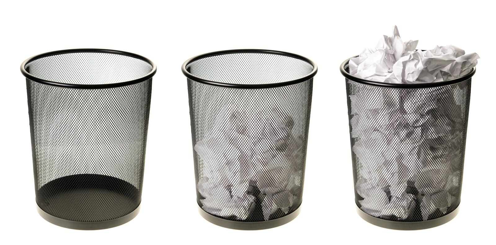 Download Empty To Full Garbage Cans stock image. Image of empty - 27685713