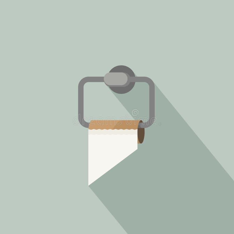 Empty toilet paper stock illustration