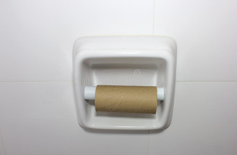 Empty toilet paper roll stock photos