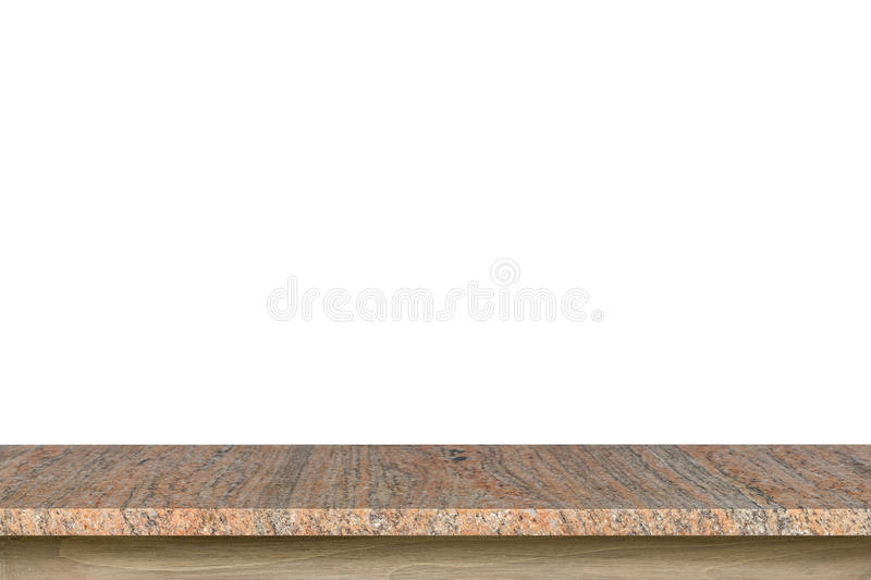 Download Empty Top Of Granite Stone Table Isolated On White Background  Stock Image   Image Of