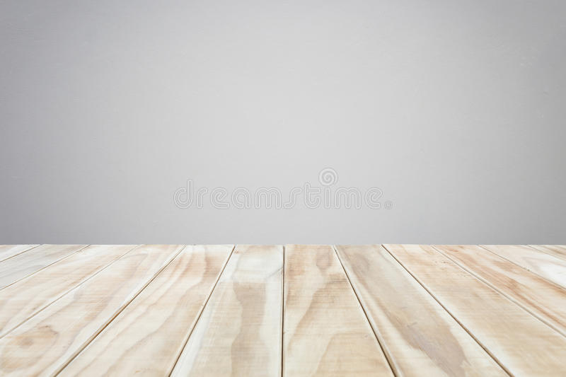Empty Top Wooden Table And Natural Stone Wall Background
