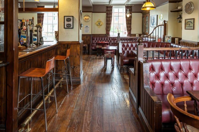 Traditional British pub interior royalty free stock photos