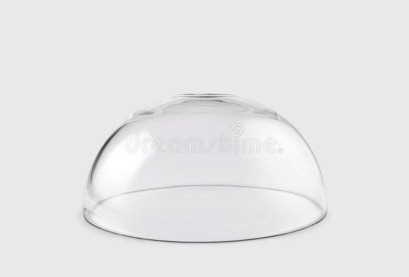 Empty transparent glass dome royalty free stock photography