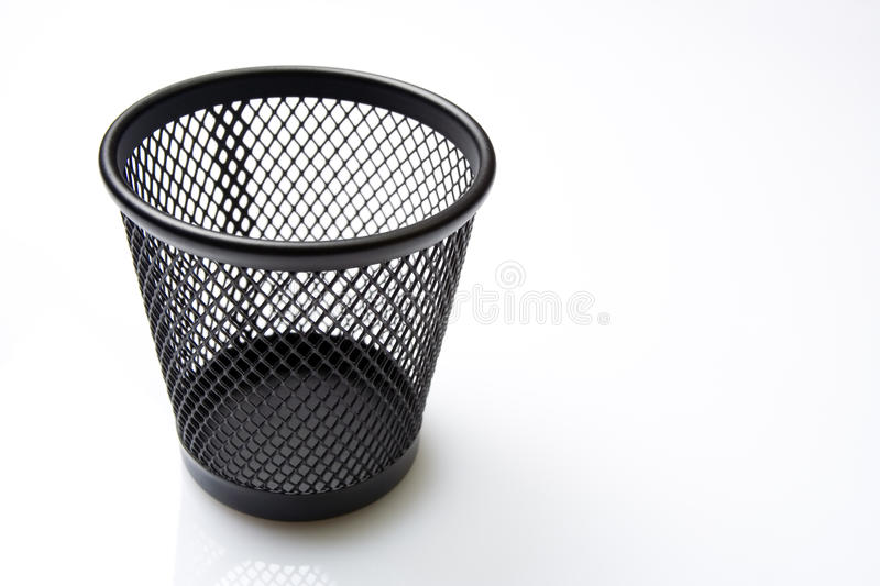 Download Empty Trash Bin On White Background Stock Image - Image of white, garbage: 13193223