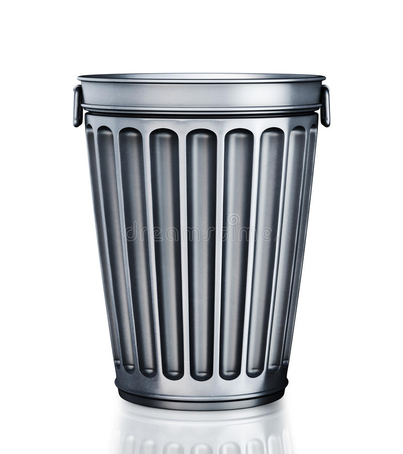 Download An empty trash can stock illustration. Image of dump - 18652855