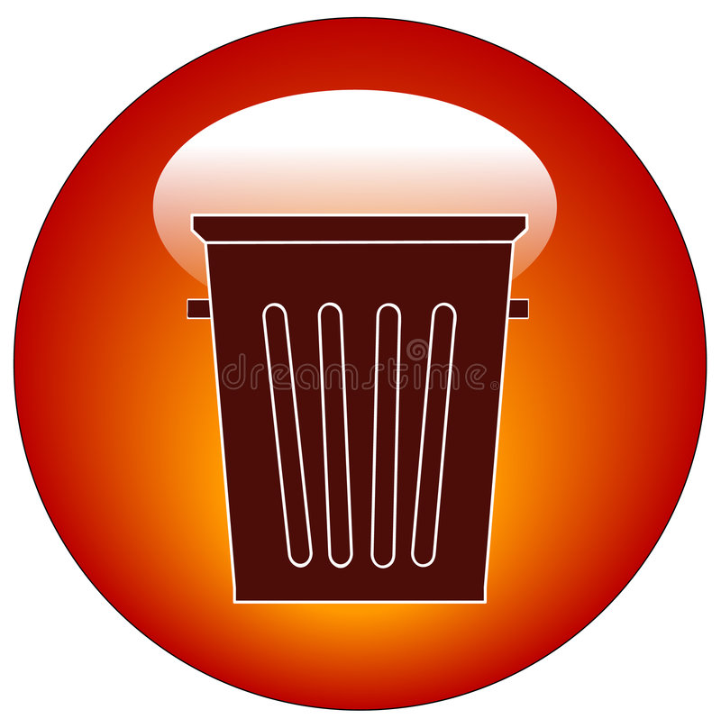 Download Empty trash can icon stock vector. Illustration of trash - 5824292