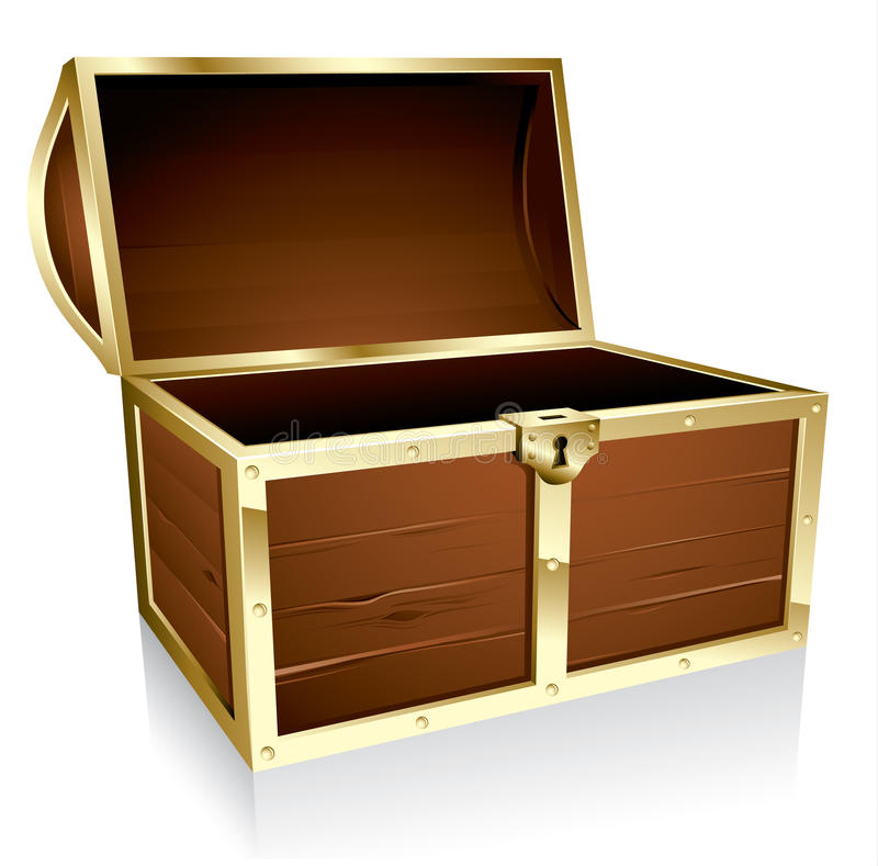 Free Empty Treasure Chest Royalty Free Stock Photography - 13314777