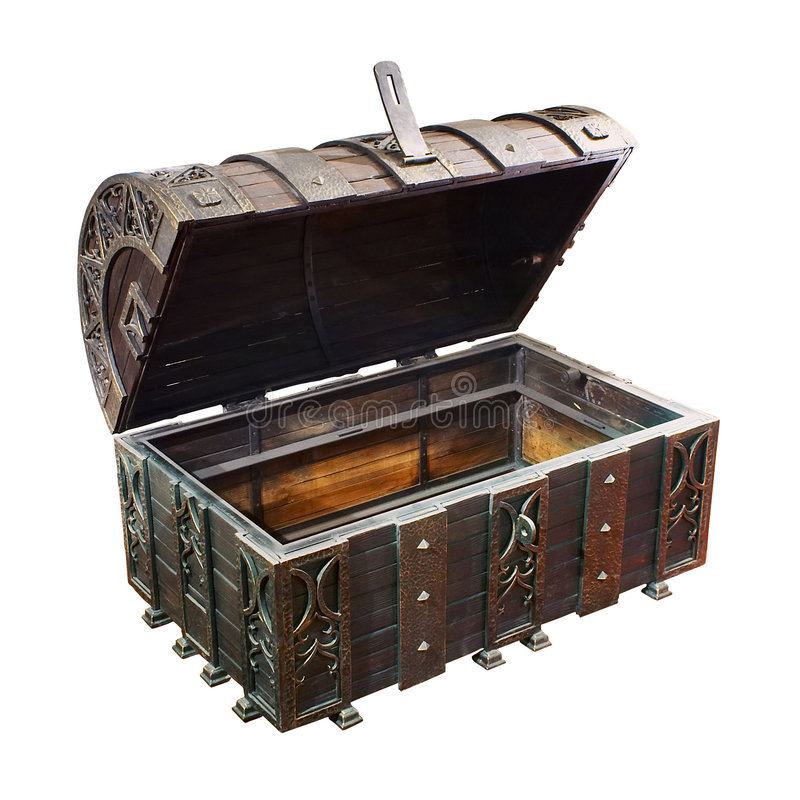 Empty treasure Chest royalty free stock images