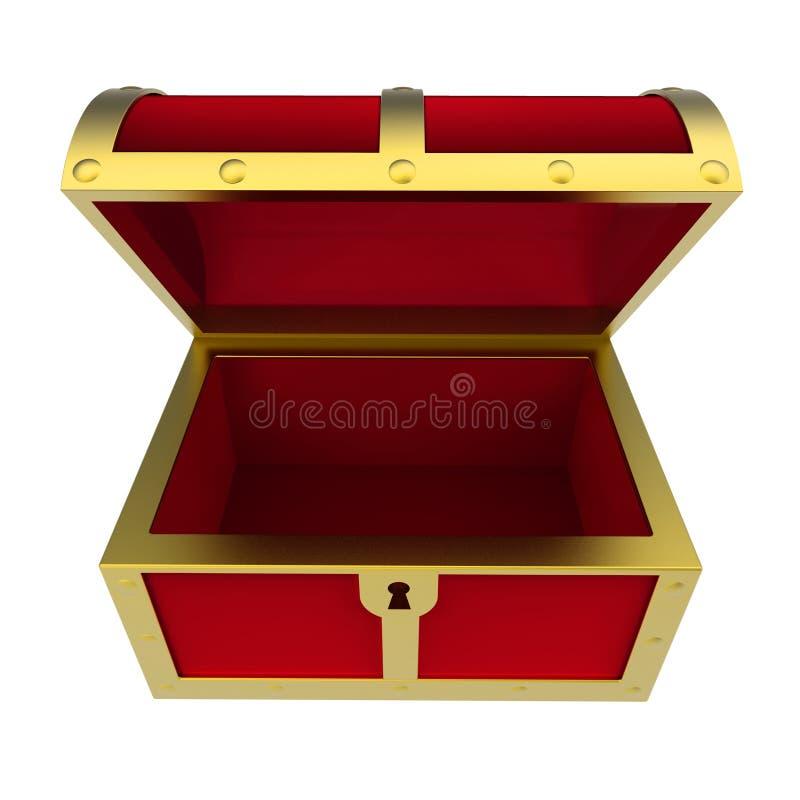 Treasure Toys Cartoon : Empty treasure chest isolated stock illustration