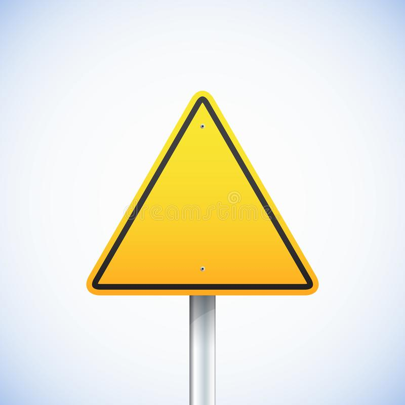 Empty triangle road sign. Vector illustration eps 10 royalty free illustration