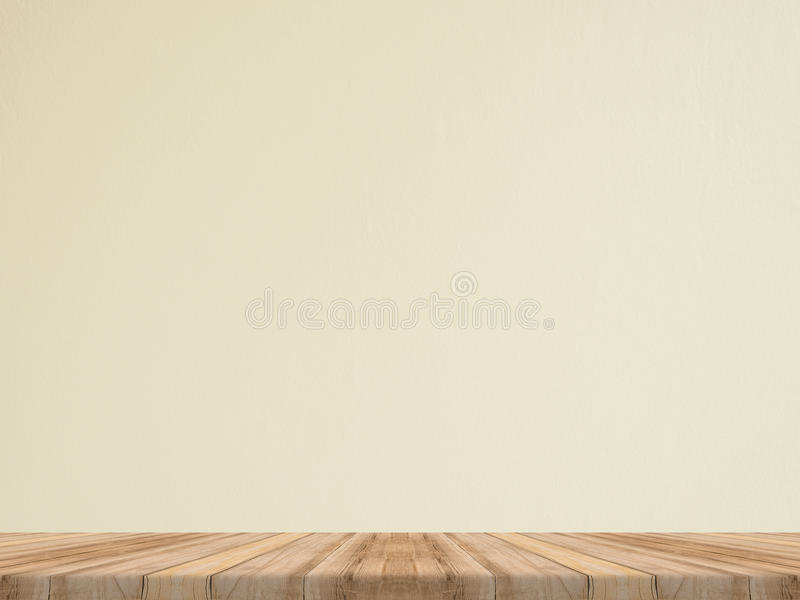 Empty tropical wood table top with white stone wall,Mock up back royalty free stock photography