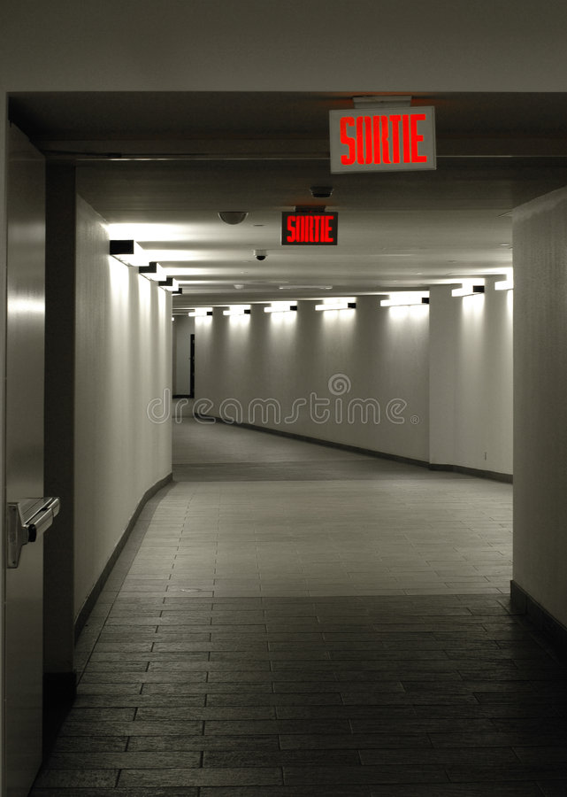 Empty tunnel stock images