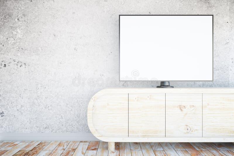 Empty tv screen stock illustration