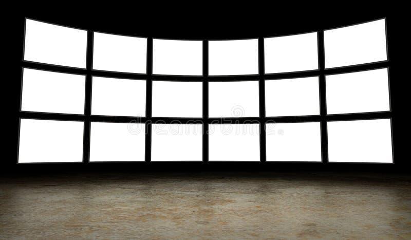Empty tv screens royalty free stock photo