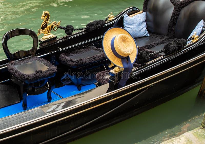Empty Venetian Gondola royalty free stock images