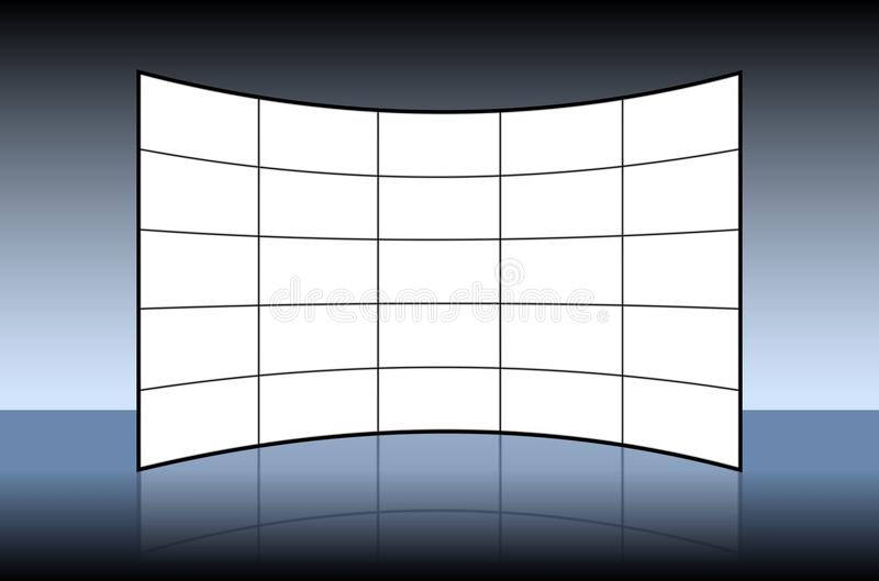 Empty Video Wall vector illustration