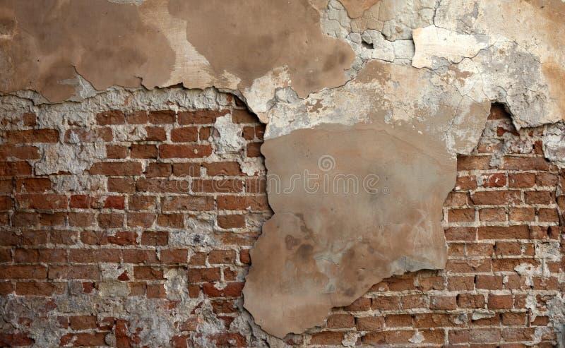 Empty vintage brick wall texture. Rough Wall Surface. Grungy Brickwall royalty free stock image