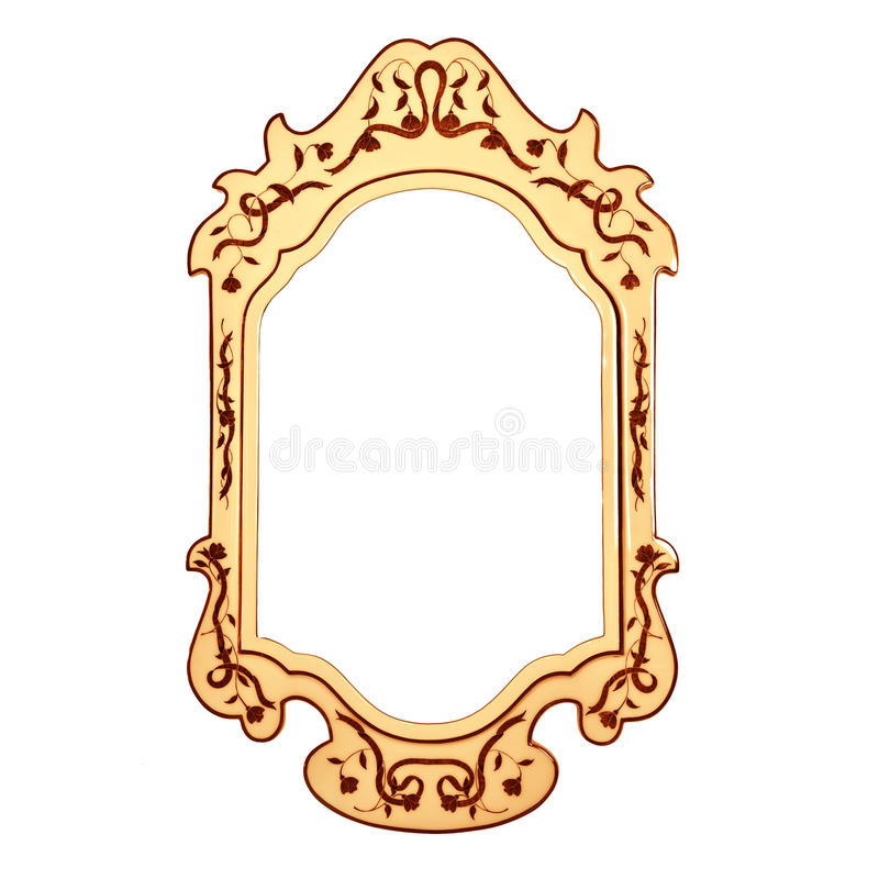 Empty vintage mirror frame royalty free stock image