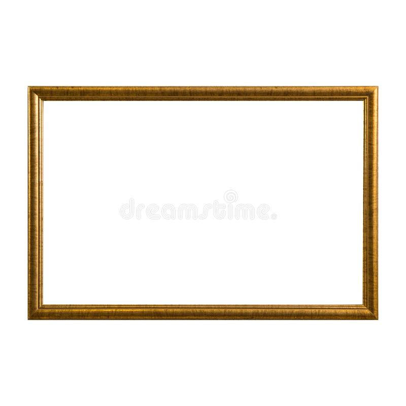 Free Empty Vintage Photo Frame,wood Frame Isolated On White Background,interior Decorative Object Stock Image - 112049941