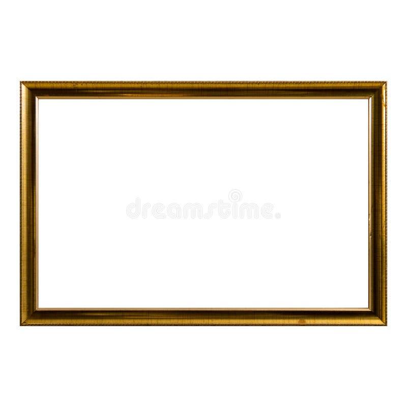 Free Empty Vintage Photo Frame,wood Frame Isolated On White Background,interior Decorative Object Stock Photography - 112050022