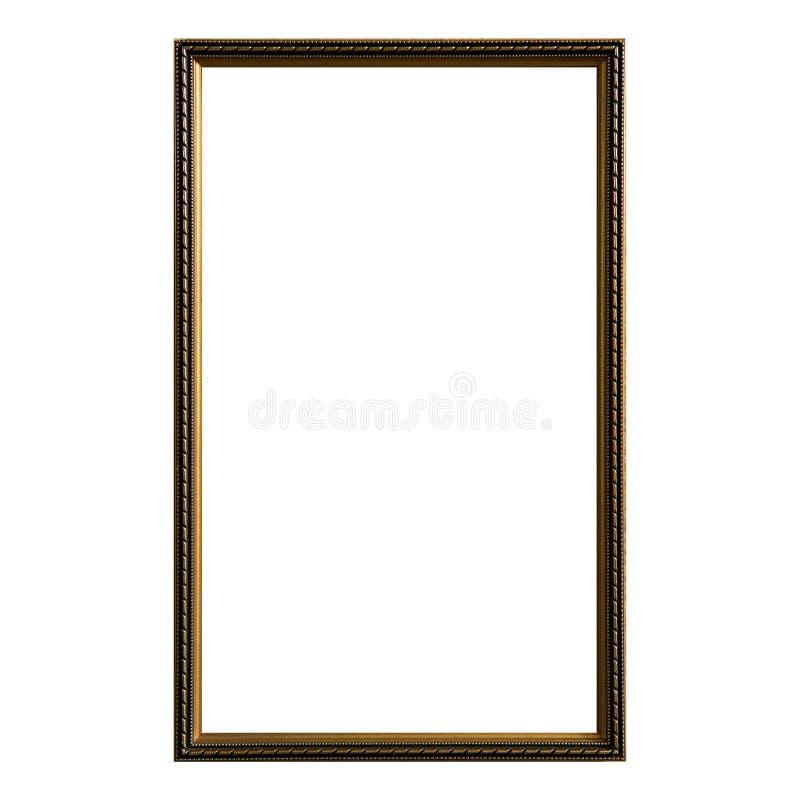 Free Empty Vintage Photo Frame,wood Frame Isolated On White Background,interior Decorative Object Royalty Free Stock Photography - 112050037