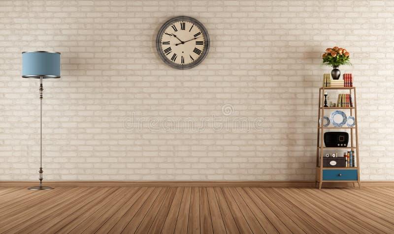 Empty vintage room stock illustration