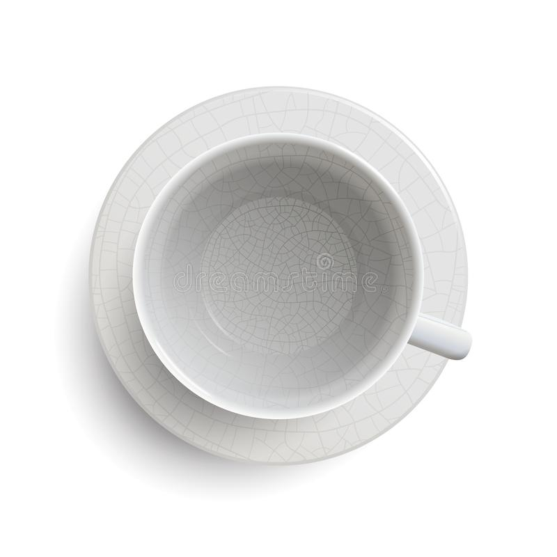 Empty Vintage White Cup royalty free illustration
