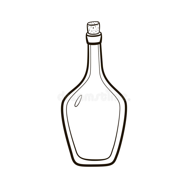Download Empty Vintage Wine Bottle Icon Stock Illustration