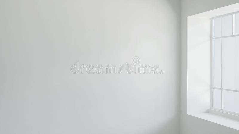 Empty wall in the living room royalty free stock photo
