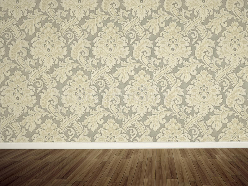 Empty wall in the room stock illustration