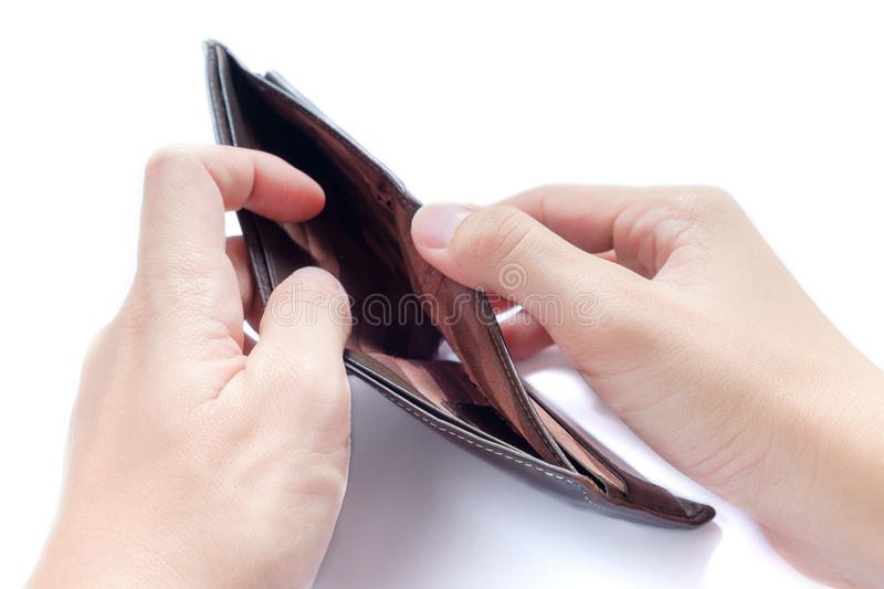 Empty Wallet. A Closeup to An Empty Wallet royalty free stock photo