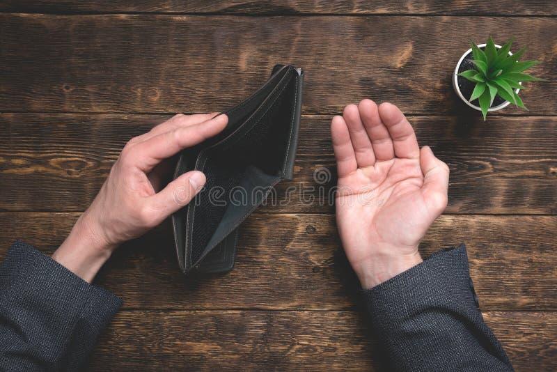 Empty wallet. stock image