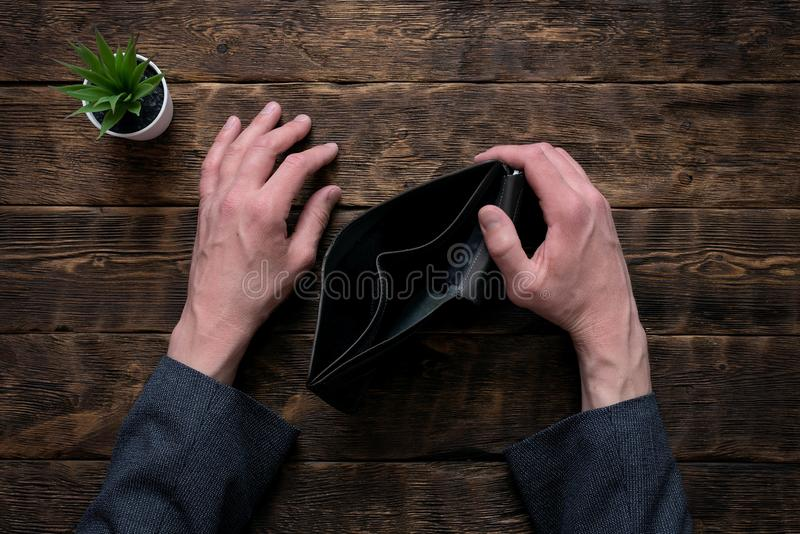 Empty wallet. royalty free stock photography