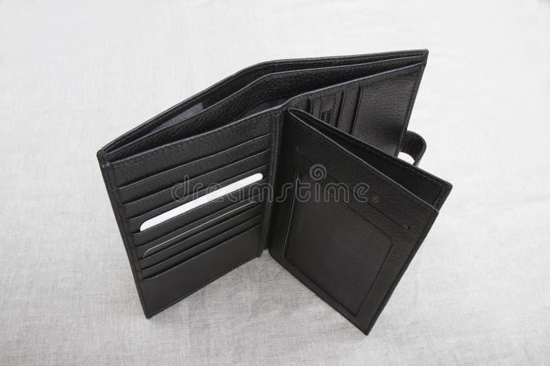 Empty wallet; open men`s wallet royalty free stock photography