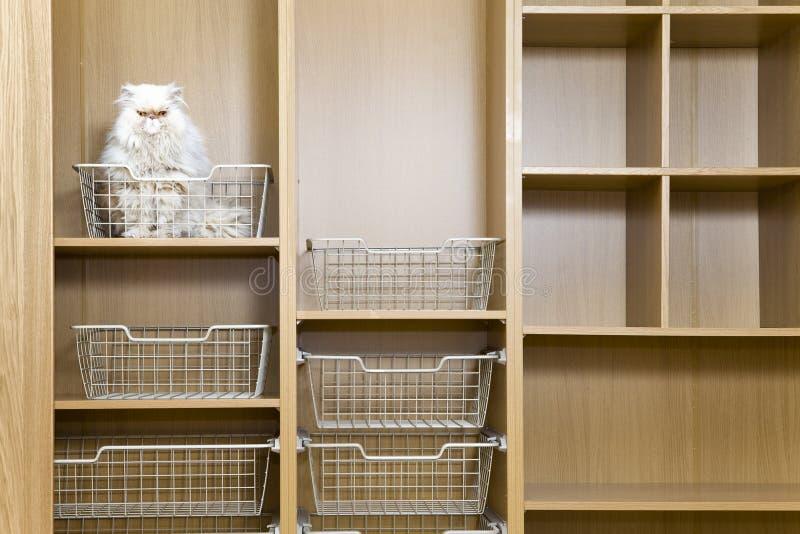 Empty wardrobe stock photography