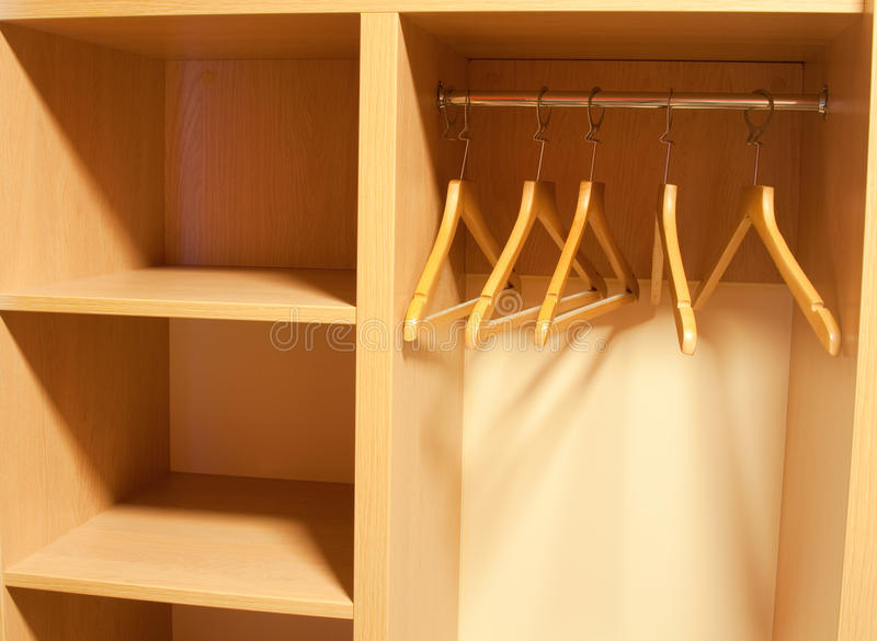 Download Empty Wardrobe With Shelves Stock Photo - Image of laundered, house: 14486162
