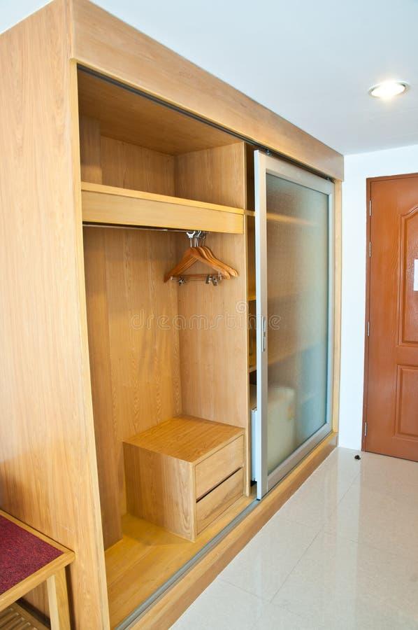 Empty Wardrobe wood royalty free stock photo