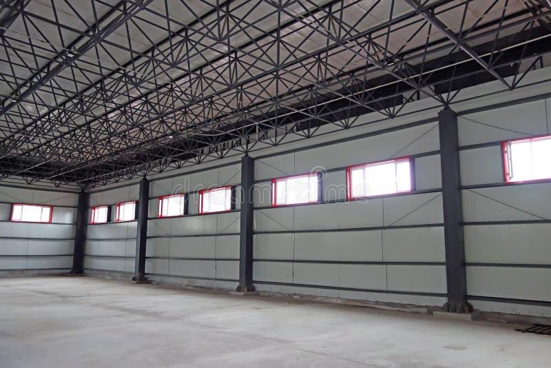 Empty warehouse royalty free stock photos