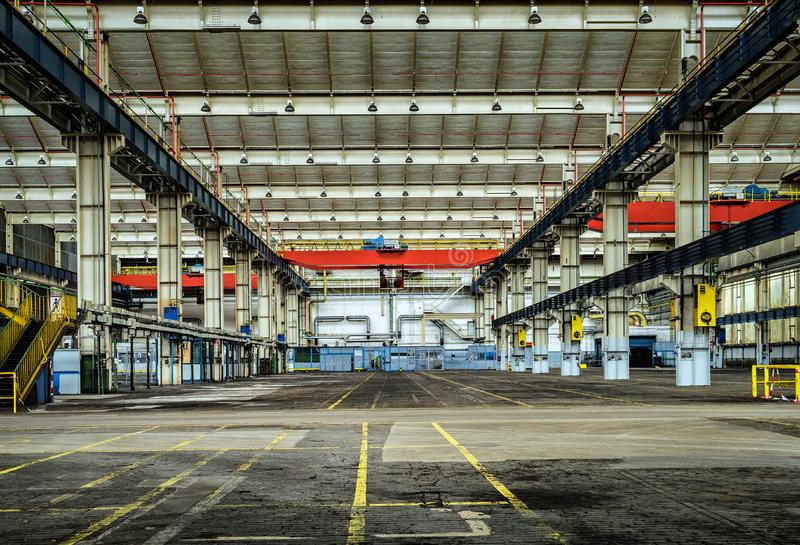 Empty warehouse royalty free stock photography