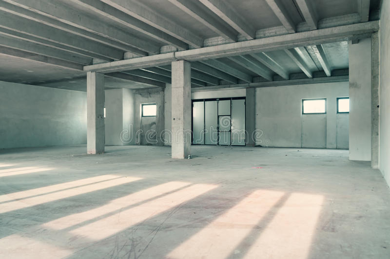 Download Industrial Warehouse Room Stock Image Of Blank