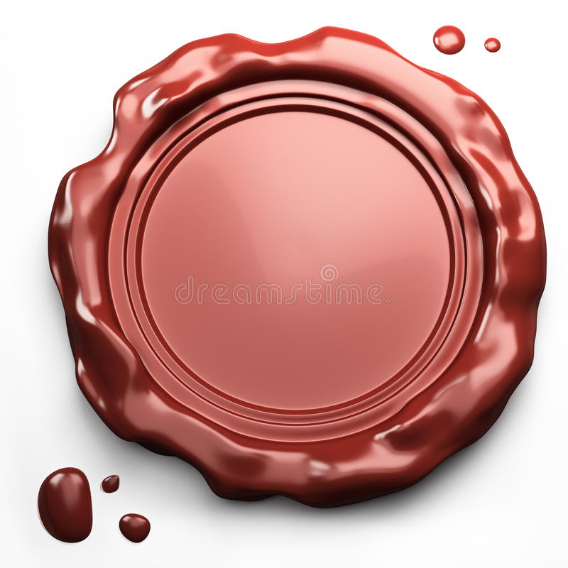 Empty wax seal royalty free illustration