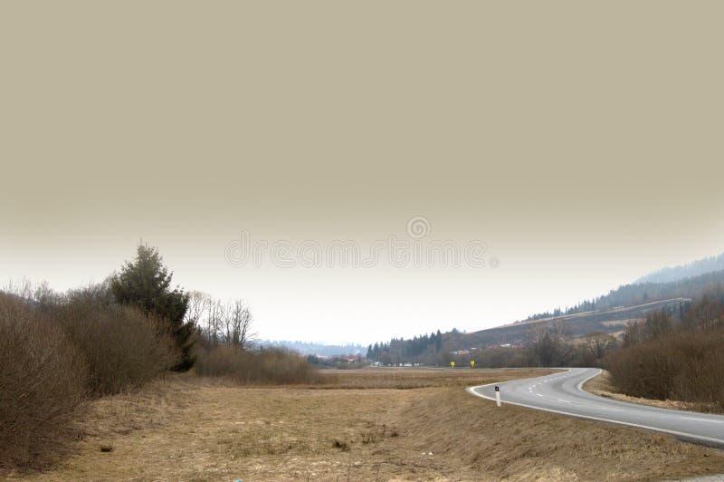 Empty seasonal road. royalty free stock image